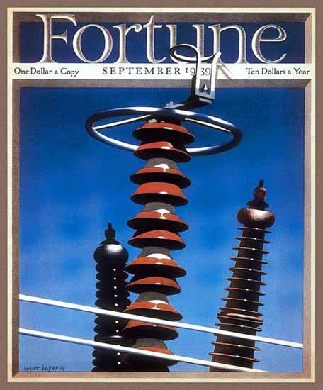 Herbert Bayer Fortune Magazine September 1939 Copyright | Fortune Magazine Graphic Art Covers 1930-1959