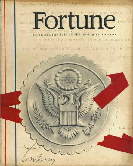Herbert Matter Fortune Magazine September 1943 Copyright | Fortune Magazine Graphic Art Covers 1930-1959