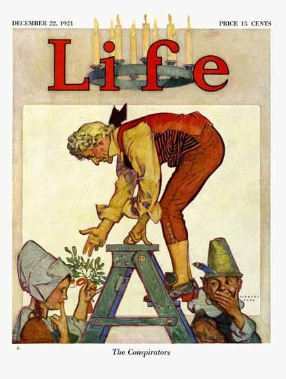Herbert Paus Life Magazine The Conspirators 1921-12-22 Copyright | Life Magazine Graphic Art Covers 1891-1936