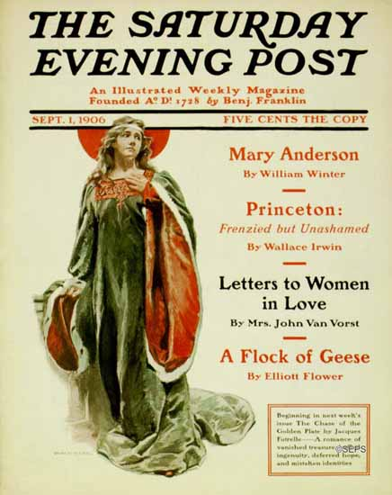 Hermann C Wall Saturday Evening Post Cover 1906_09_01 | The Saturday Evening Post Graphic Art Covers 1892-1930