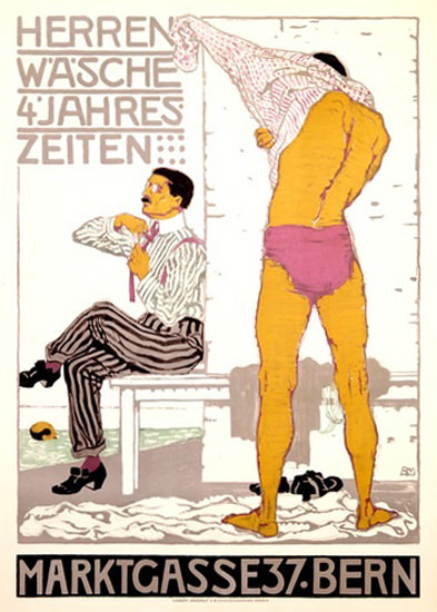 Herrenwaesche 4 Jahreszeiten Marktgasse Bern | Sex Appeal Vintage Ads and Covers 1891-1970