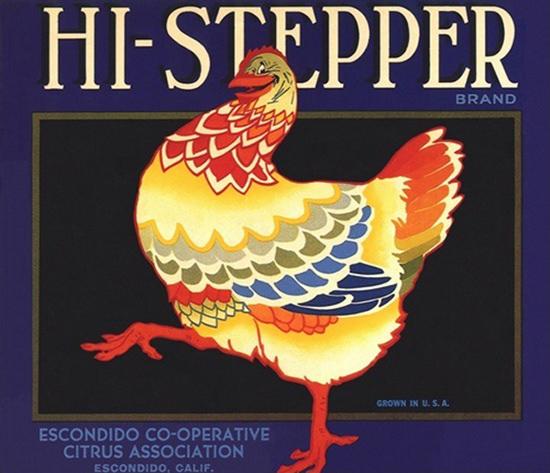 Hi-Stepper Citrus Association Escondido California | Vintage Ad and Cover Art 1891-1970