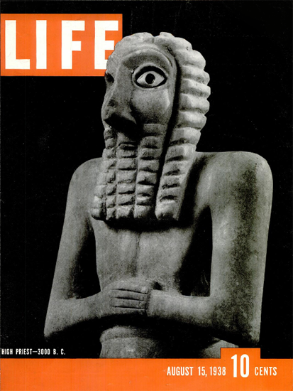 High Priest 3000 BC 5 Aug 1938 Copyright Life Magazine | Life Magazine BW Photo Covers 1936-1970