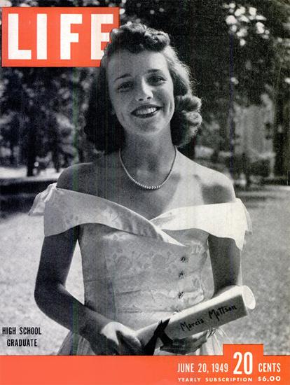 High School Graduate 20 Jun 1949 Copyright Life Magazine   Life Magazine BW Photo Covers 1936-1970