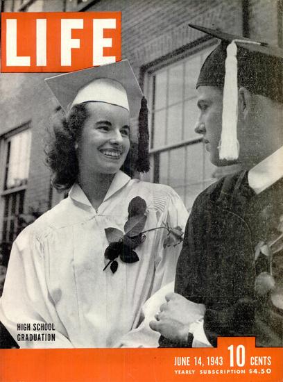 High School Graduation 14 Jun 1943 Copyright Life Magazine | Life Magazine BW Photo Covers 1936-1970