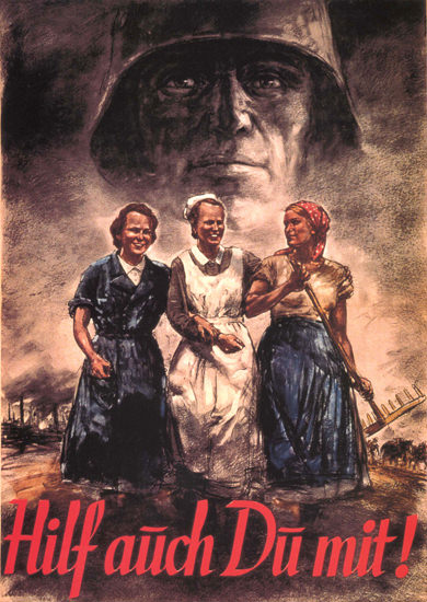 Hilf Auch Du Mit Germany Your Help Needed | Vintage War Propaganda Posters 1891-1970