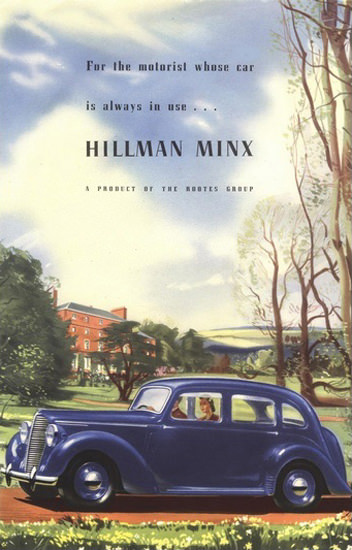Hillman Minx Automobile Rootes Group England | Vintage Cars 1891-1970