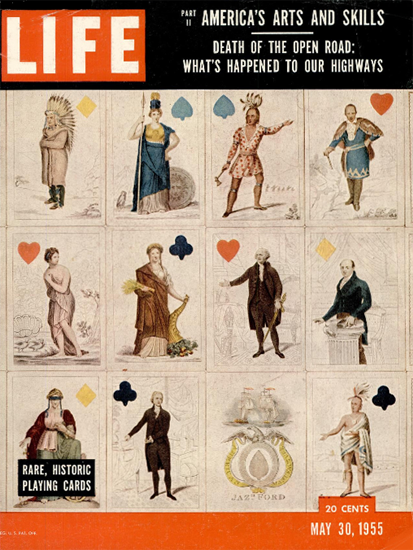 Historic Playing Cards 30 May 1955 Copyright Life Magazine | Life Magazine Color Photo Covers 1937-1970