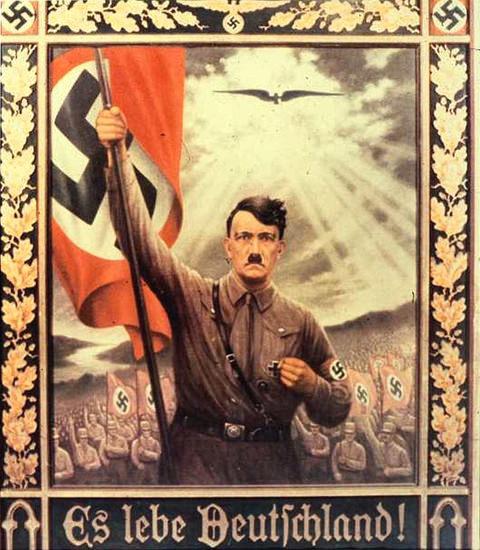 Hitler Es Lebe Deutschland   Vintage War Propaganda Posters 1891-1970
