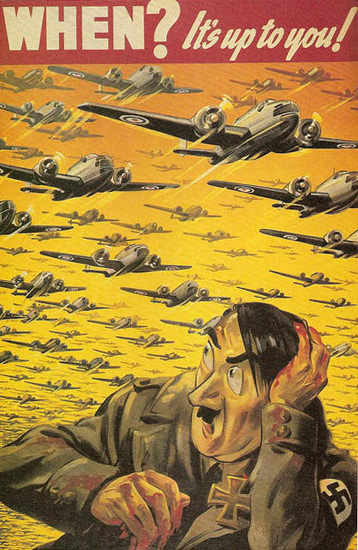 Hitler When Its Up To You | Vintage War Propaganda Posters 1891-1970