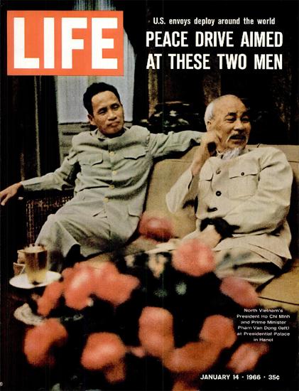 Ho Chi Minh Pham Van Dong Hanoi 14 Jan 1966 Copyright Life Magazine | Life Magazine Color Photo Covers 1937-1970