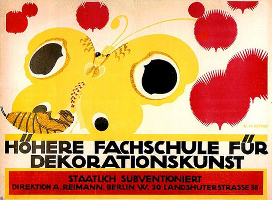 Hoehere Fachschule Dekoration Berlin 1912 | Vintage Ad and Cover Art 1891-1970