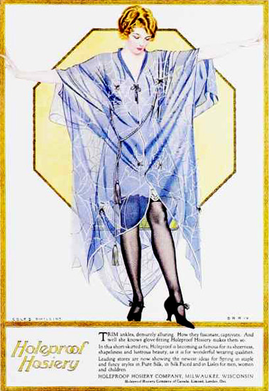 Holeproof Hosiery Trim 1920s Coles Phillips | Sex Appeal Vintage Ads and Covers 1891-1970