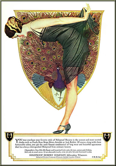 Holeproof Hosiery Lustrous Beauty 1922 Coles Phillips | Sex Appeal Vintage Ads and Covers 1891-1970