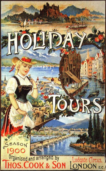 Holiday Tours Season 1900 Thomas Cook UK | Vintage Travel Posters 1891-1970