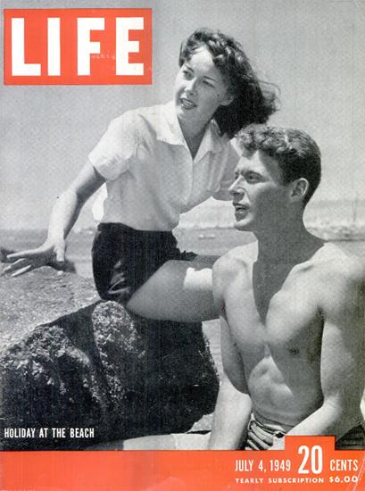 Holiday at the Beach 4 Jul 1949 Copyright Life Magazine | Life Magazine BW Photo Covers 1936-1970