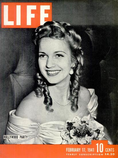 Hollywood Party 17 Feb 1941 Copyright Life Magazine | Life Magazine BW Photo Covers 1936-1970