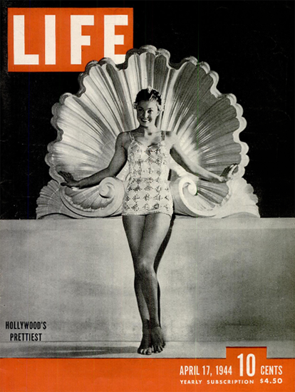 Hollywoods Prettiest 17 Apr 1944 Copyright Life Magazine | Life Magazine BW Photo Covers 1936-1970