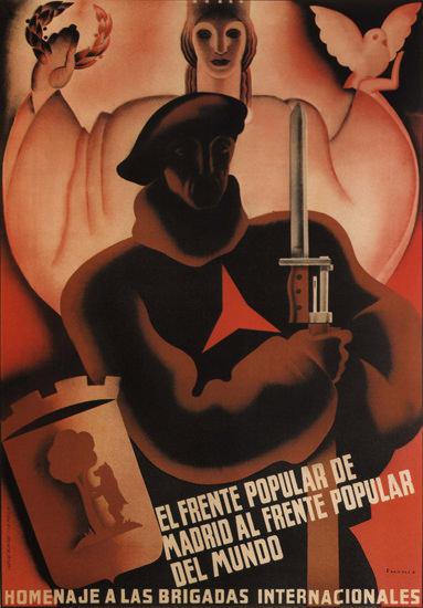 Homenaje A Las Brigadas Internacionales Spain | Vintage War Propaganda Posters 1891-1970