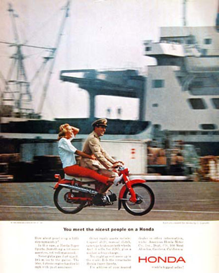 Honda Scooter 1964 Harbor | Vintage Travel Posters 1891-1970