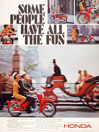 Honda Scooter 1966 Coach | Vintage Travel Posters 1891-1970