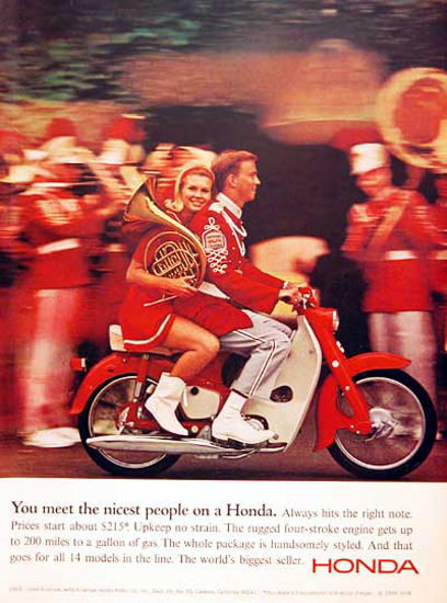 Honda Scooter 1966 Marching Band | Vintage Travel Posters 1891-1970