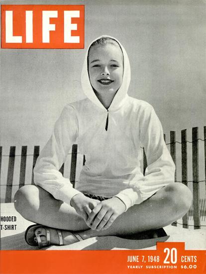 Hooded T-Shirt 7 Jun 1948 Copyright Life Magazine | Life Magazine BW Photo Covers 1936-1970