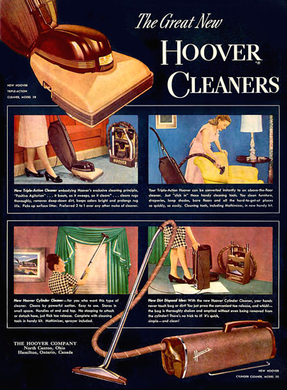 Hoover Cleaners 1950 Canton Ohio | Vintage Ad and Cover Art 1891-1970