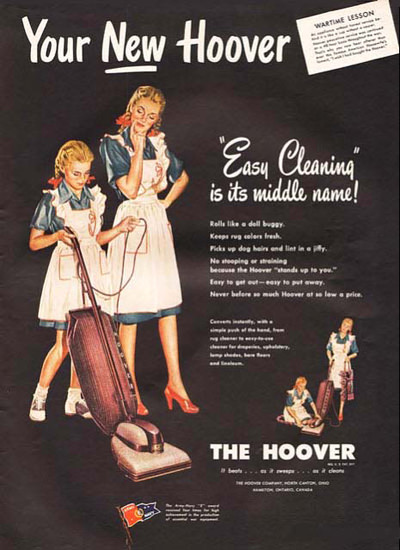 Hoover Vacuum Cleaner Easy Cleaning | Vintage Ad and Cover Art 1891-1970