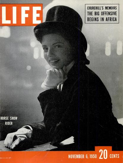 Horse Show Rider 6 Nov 1950 Copyright Life Magazine | Life Magazine BW Photo Covers 1936-1970