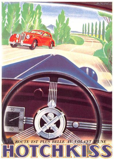 Hotchkiss Route Est Plus Belle Volant D Une 1947 | Vintage Cars 1891-1970