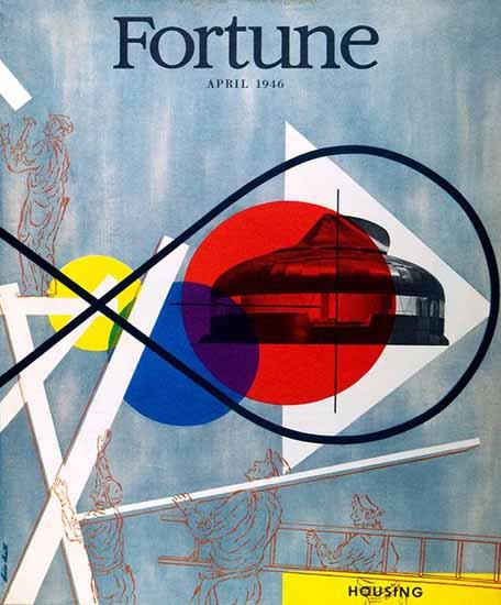 Housing Fortune Magazine April 1946 Copyright | Fortune Magazine Graphic Art Covers 1930-1959