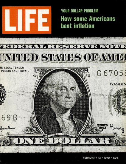 How Americans Beat Inflation 13 Feb 1970 Copyright Life Magazine | Life Magazine Color Photo Covers 1937-1970