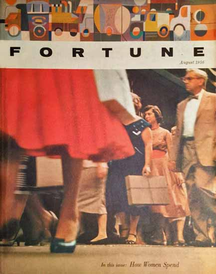 How Women Spend Fortune Magazine August 1956 Copyright | Fortune Magazine Graphic Art Covers 1930-1959