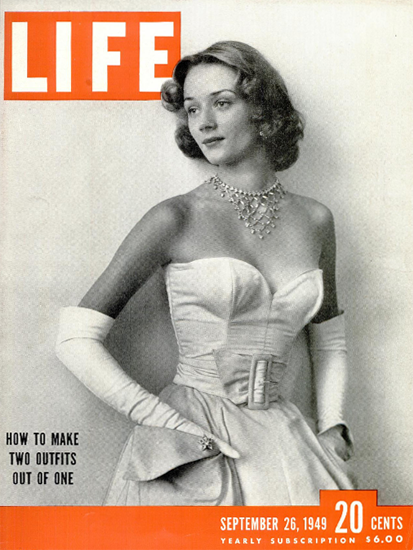How to make two Outfits out of one 26 Sep 1949 Copyright Life Magazine | Life Magazine BW Photo Covers 1936-1970
