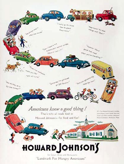 Howard Johnsons 1953 Family Restaurant | Vintage Ad and Cover Art 1891-1970