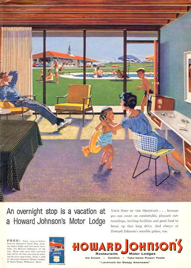 Howard Johnsons Motor Lodge 1959 | Vintage Ad and Cover Art 1891-1970