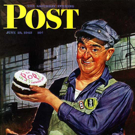 Howard Scott Saturday Evening Post Father 1943_06_19 Copyright crop | Best of 1940s Ad and Cover Art