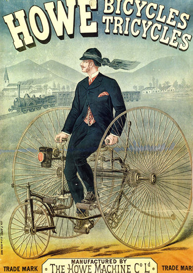 Howe Bicycles Tricycles France | Vintage Ad and Cover Art 1891-1970