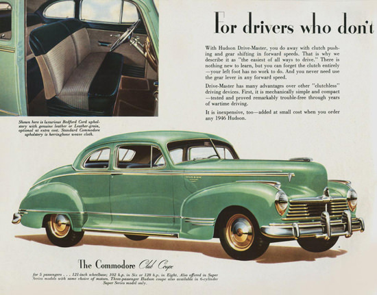 Hudson Commodore Club Coupe 1946 | Vintage Cars 1891-1970