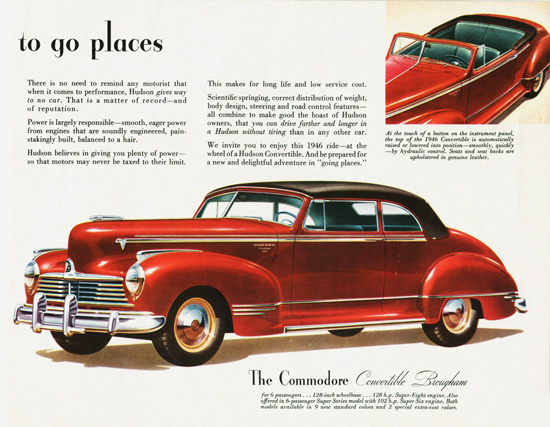 Hudson Commodore Convertible Brougham 1946 | Vintage Cars 1891-1970