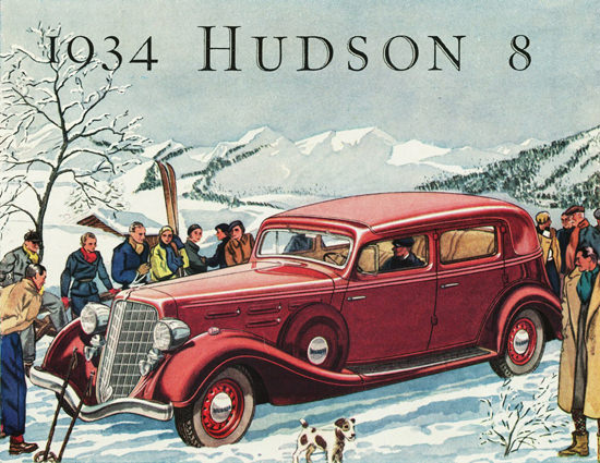 Hudson DeLuxe Eight Brougham 1934 | Vintage Cars 1891-1970