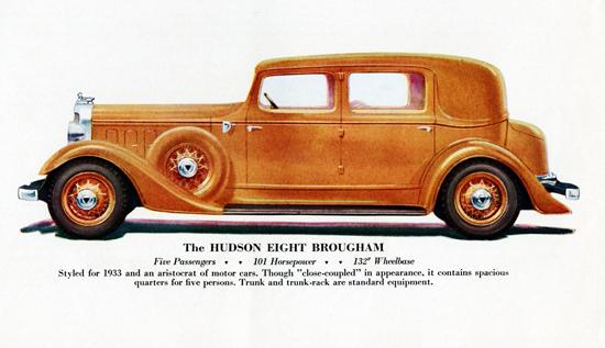 Hudson Eight 5 Passenger Brougham 1933 | Vintage Cars 1891-1970