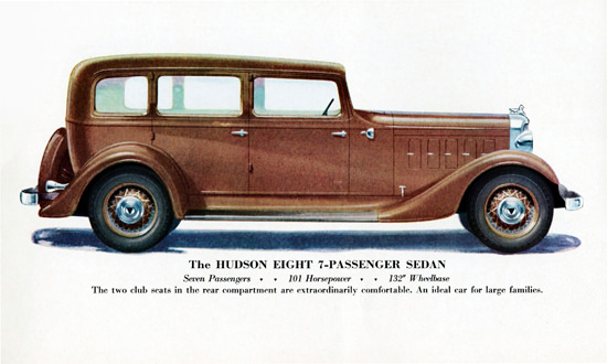 Hudson Eight 7 P Sedan 1933 Ideal For Families | Vintage Cars 1891-1970