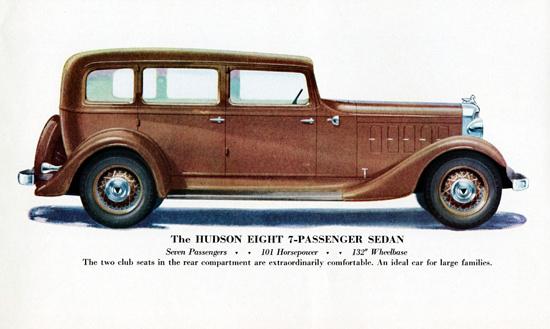 Hudson Eight 7 Passenger Sedan 1933 | Vintage Cars 1891-1970