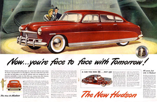 Hudson Face To Face With Tomorrow Red | Vintage Cars 1891-1970