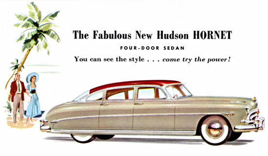 Hudson Hornet Sedan 1952 Try The Power | Vintage Cars 1891-1970