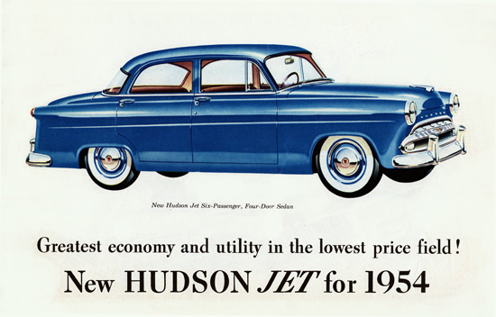 Hudson Jet 6 P Sedan 1954 Greatest Economy | Vintage Cars 1891-1970