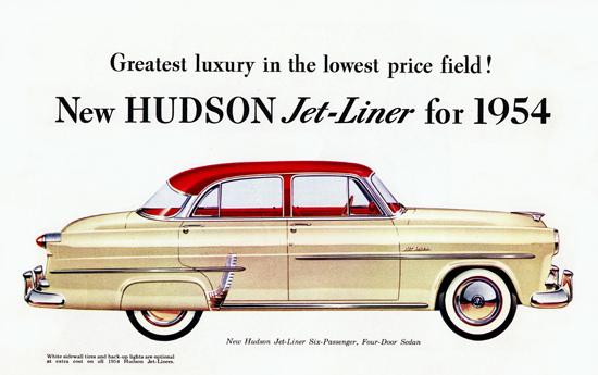 Hudson Jet Liner 1954 White Sidewall Tires | Vintage Cars 1891-1970