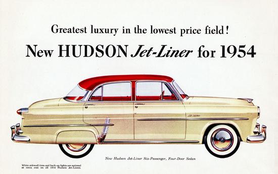 Hudson Jet Liner Four Door Sedan 1954   Vintage Cars 1891-1970